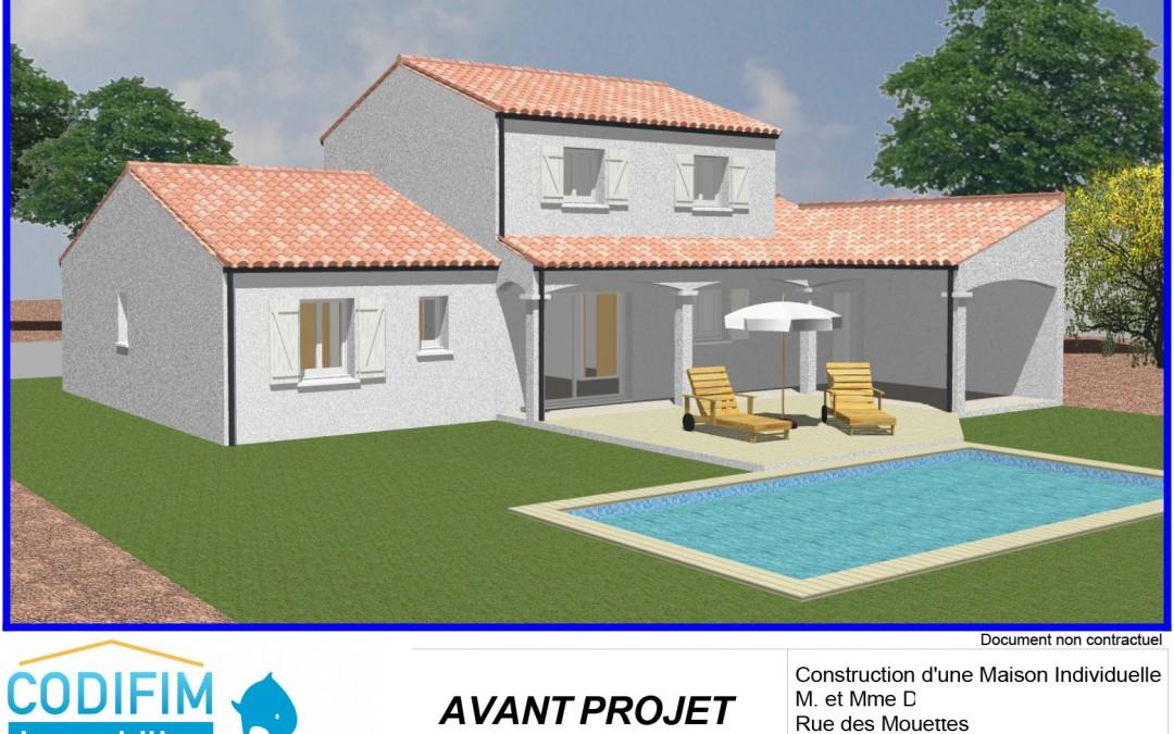 Projet construction terrain à bâtir + maison à jard sur Mer | Étape 1 : plans et devis