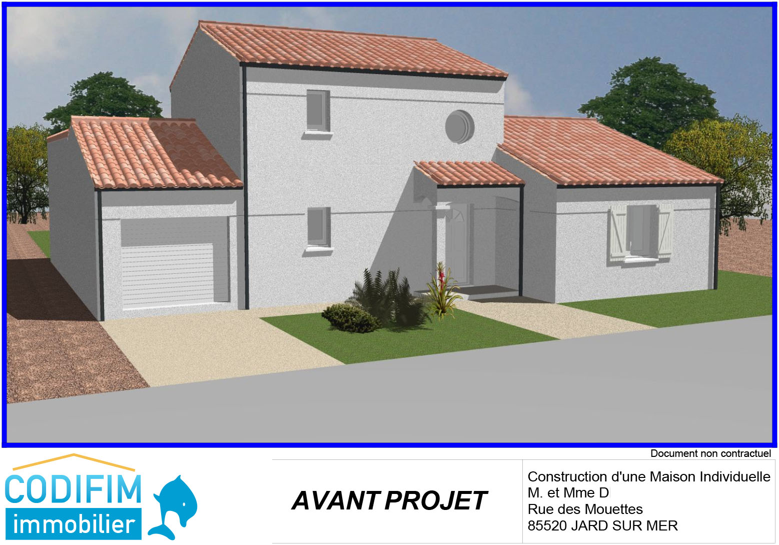 Projet construction terrain b tir maison jard sur for Terrain construction maison